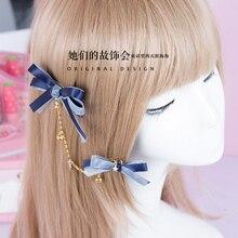 Сладкая лолита принцесса шпилька ручной all-матч сладкий бантом волосы лолита hairclip ручной DIY звезды GSH003