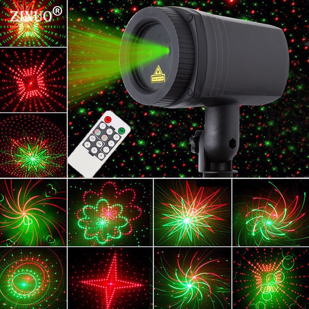 ZINUO Christmas Laser Projector Sky Star Lights Effect RF Remote Motion Waterproof Showers IP65 Blue&Green Outdoor Garden Lamp lole леггинсы lsw1234 motion leggings m blue corn