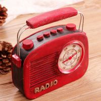Vintage Retro Radio Camera Photography Props Resin Gifts Craft Ornaments Bar Coffee Home Decoration Home Furniture