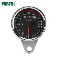 Universal Motorcycle Speedometer Odometer Gauge ATV Bike Scooter Tachometer Backlit Dual Speed Meter LED Indicator 0