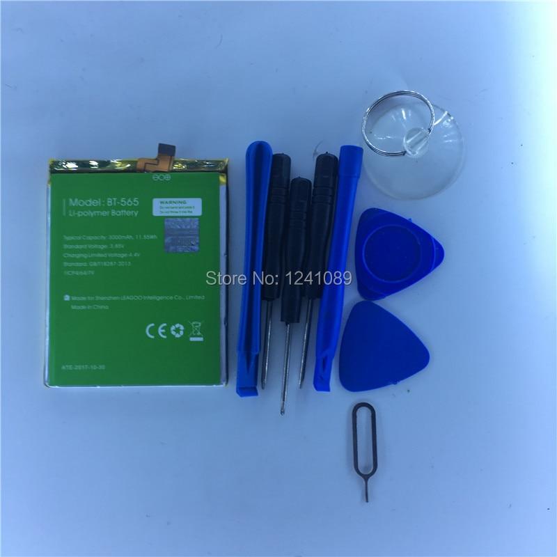 Handy batterie LEAGOO T5 kiicaa mix BT-565 BT-566 3000 mah Lange standby-zeit 5,5 zoll MTK6750T LEAGOO Mobile Zubehör