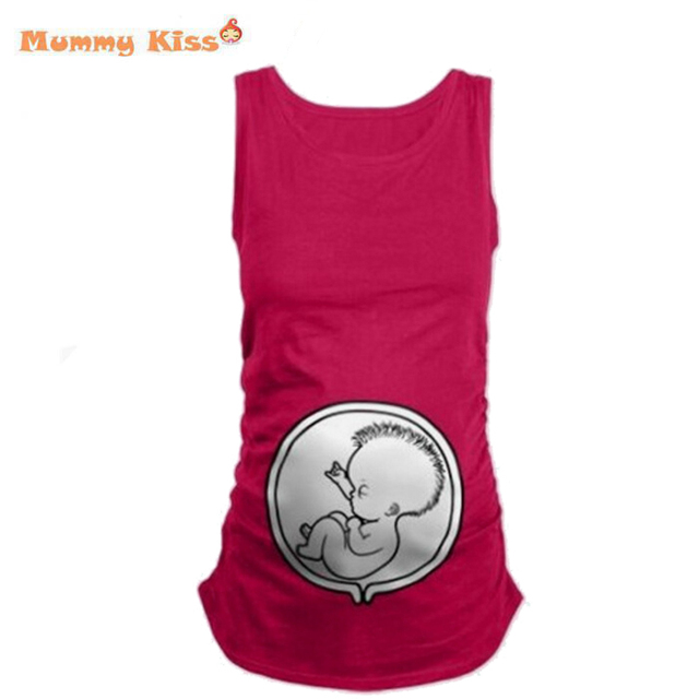 Women Maternity Vest New European Cute Infant Pattern Printed Summer Sleeveless Tops Pregnant Woman T-shirts Plus Size tyh-50577