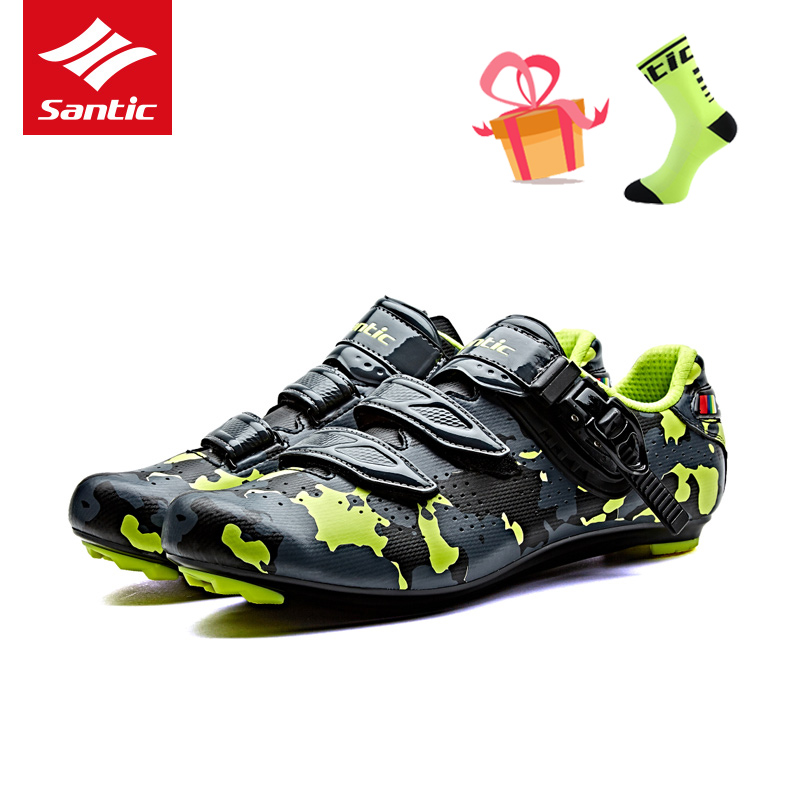 Santic 2017 Road Bike Shoes Cycling Shoes Men Breathable Pro Road Racing Cycle Bicycle Shoes Riding Sneakers Zapatillas Ciclismo 2017brand sport mesh men running shoes athletic sneakers air breath increased within zapatillas deportivas trainers couple shoes
