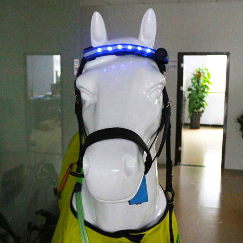 34cm*2.5cm LED Horse Head Straps Equestrian Head Straps Night Visible Outdoor Flashing Belt Horse Riding Horse Headband Lights