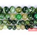 Бесплатная доставка натуральный камень желтый зеленый полосатые Агаты круглые бусины 4 6 8 10 12 мм выбрать размер для изготовления ювелирных изделий SAB51 - фото