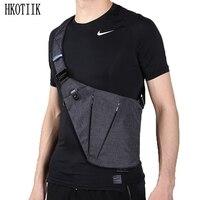 2018 New Style Shoulder Bag Multi Purpose Chest Bag Men S Casual Waterproof Canvas Horizontal Package