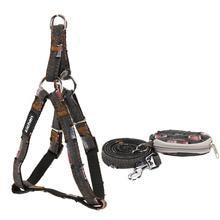 Pet Dog Harness Leash Set Adjustabele perfect Durable Denim Nylon for Dog Leash Set Basic Halter Harnesse Purse Dog Daily S-XL