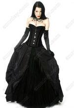 Long Black Corset Prom
