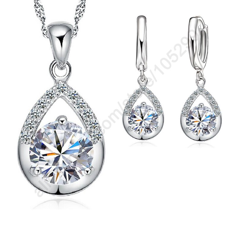 JEXXI Elegan Fashion Jewelry Set Anting Murni 925 Sterling Silver - Perhiasan fashion - Foto 2