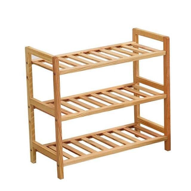 Size (50x55x25cm) 3 Tier Solid Wood Shoe Cabinet Shoe Shelf Simple Shelf Flower Rack  sc 1 st  AliExpress.com & Size (50x55x25cm) 3 Tier Solid Wood Shoe Cabinet Shoe Shelf Simple ...