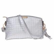 Модные женские туфли кожа ткань кисточкой сумки Сумка Дамы Серебряный Crossbody Сумка Женский Путешествия хозяйственная сумка