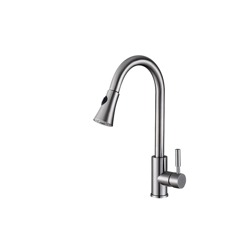 1pcs Hot & Cold Water Tap 340 Stainless Steel Kitchen Tap Dual Use Rotary Pull Kitchen Tap