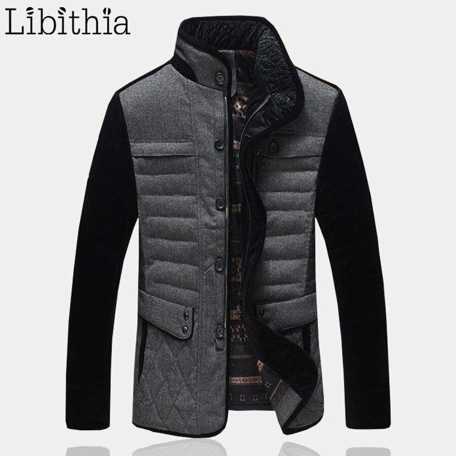 Men 95% White Duck Down Parka Mens High Quality Waterproof Slim Short Jacket Coats Warm Winter Big Size M-5XL Stand Collar K160