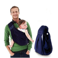 8 colors newborn popular organic  infant toddler wrap bag ecnomic kid sling cotton sponge baby carrier sling backpack suspenders