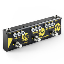Donner Multigitaareffect Pedaal Alpha Cruncher 3 Type Effecten Vertraag Chorus Distortion Pedaal met adapter