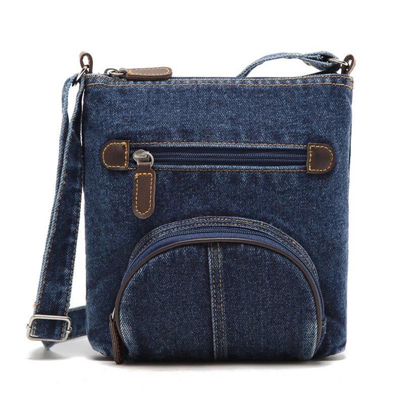 Womens Denim Handbag Vintage Shoulder Bag Tote Purse Lady Messenger Satchel