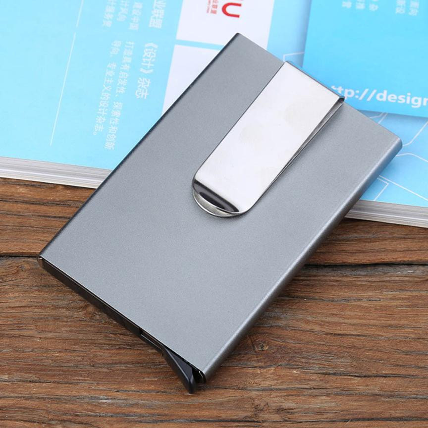 2018 New Men Women Aluminum Slim Mini Business Card Holder Metal ID ...