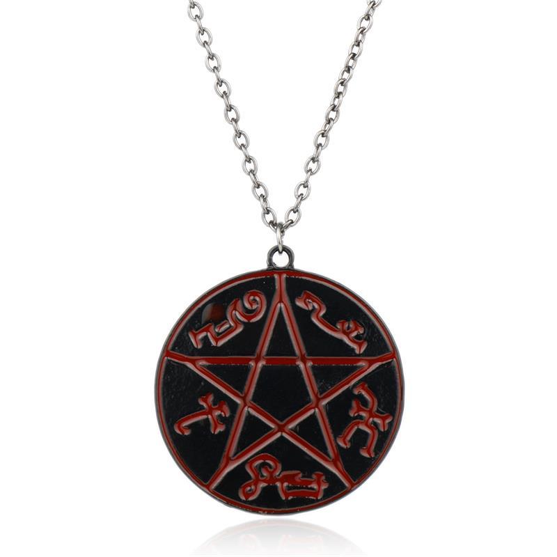 Mqchun Supernatural Pentacle Hebrew Charm Pentagram
