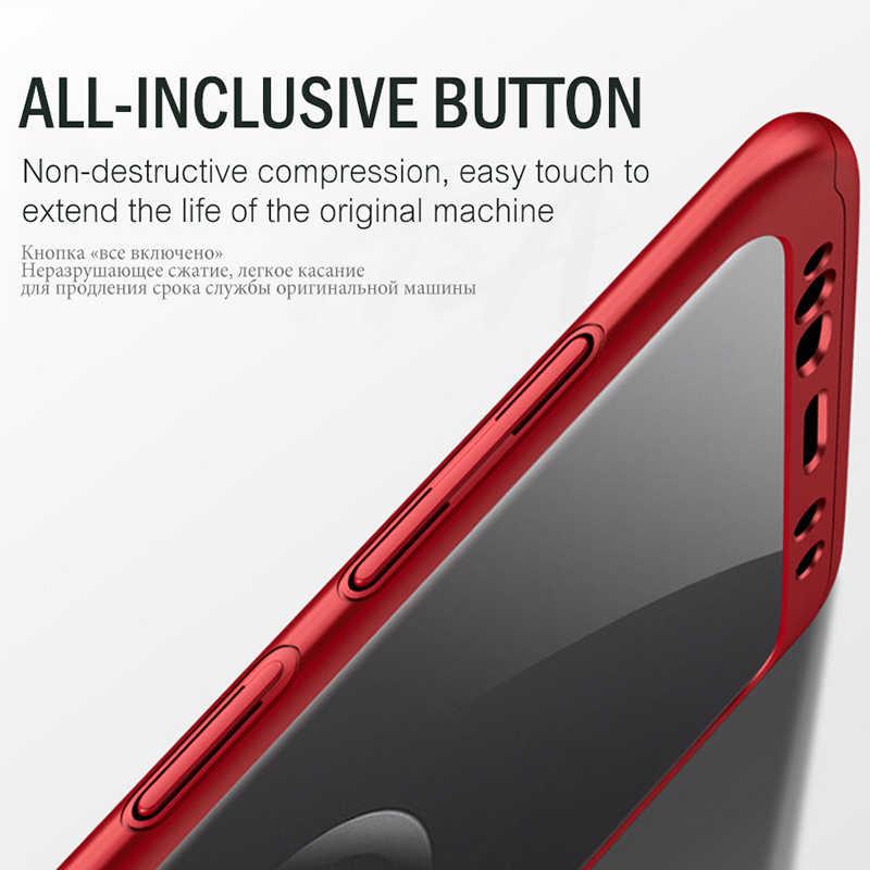 กันกระแทก 360 องศาสำหรับ Samsung Galaxy S8 S9 Plus S9plus กรณี PC Hard + Soft ฟิล์ม PET หน้าจอ Protector