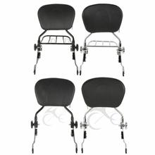купить Motorcycle Backrest Sissy Bar &Luggage Rack For Harley Touring Road King Road Glide Electra Glide 2009-2019 дешево