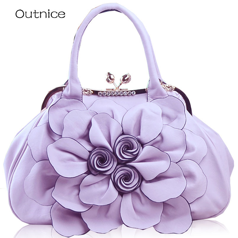 3D Big Flower bags handbag women famous brands Luxury purses and handbags Crossbody bags for party and wedding dames tassen