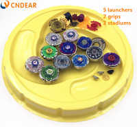 Free shipping beyblade burst stadium Metal Fusion 4D Freies spinner top launcher and grip arena children toys