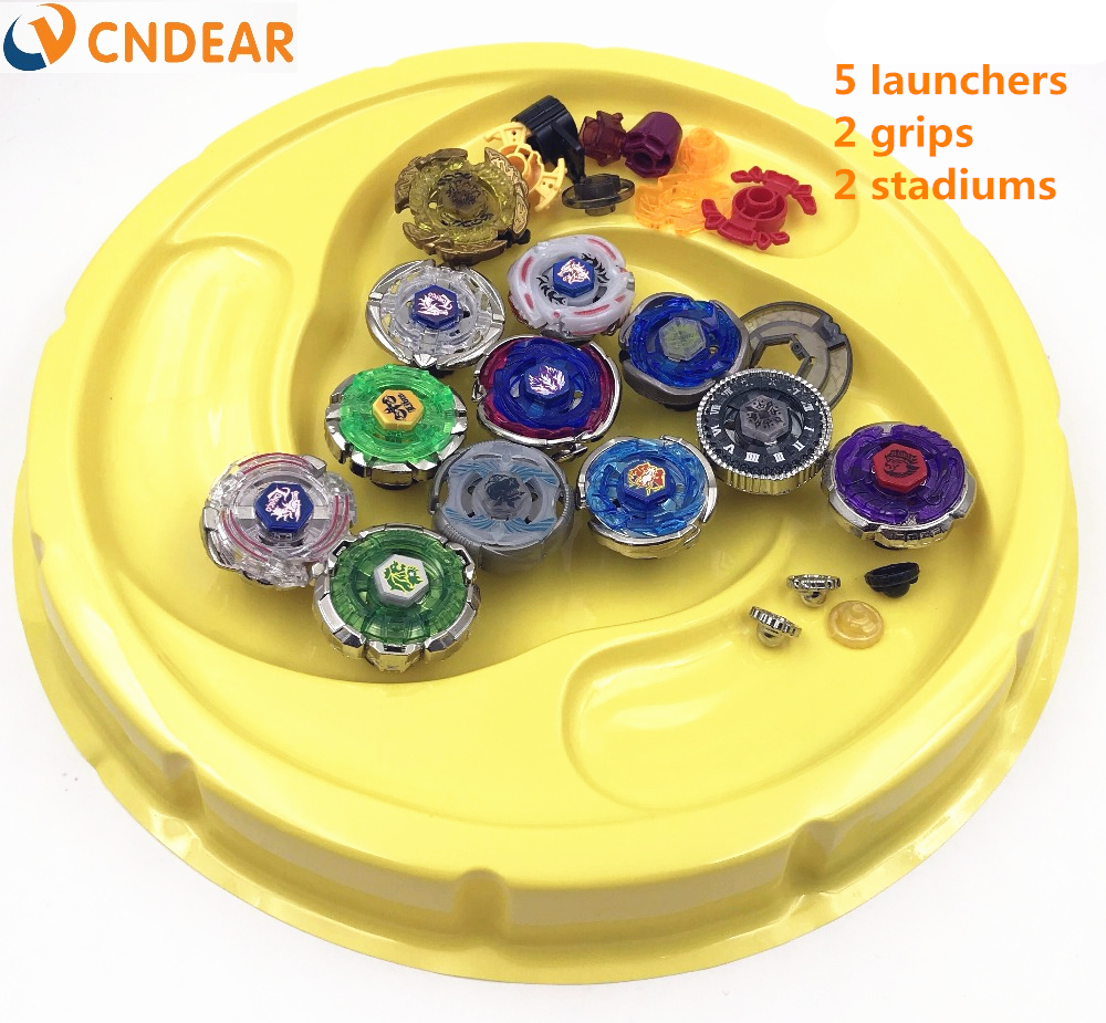 Livraison gratuite beyblade burst stade métal Fusion 4D Freies spinner top lanceur et grip arena enfants jouets