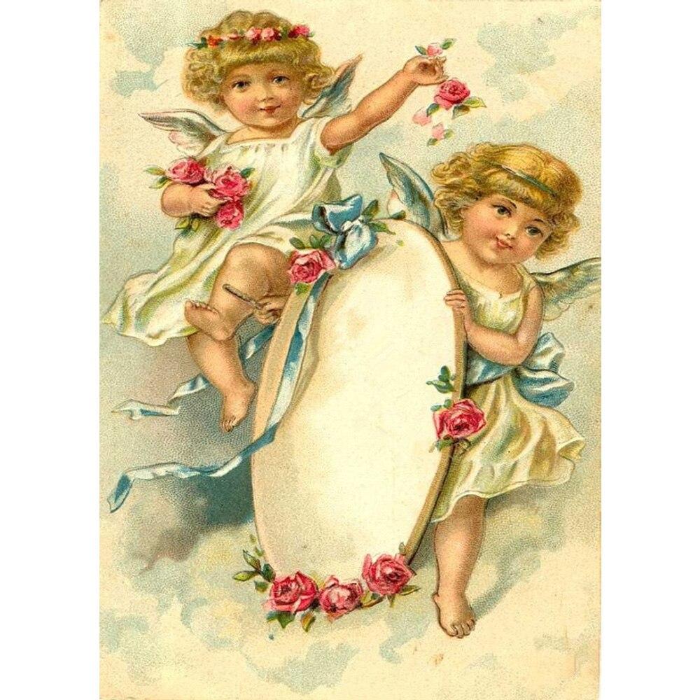 Вышивка крестом ангелы девушки