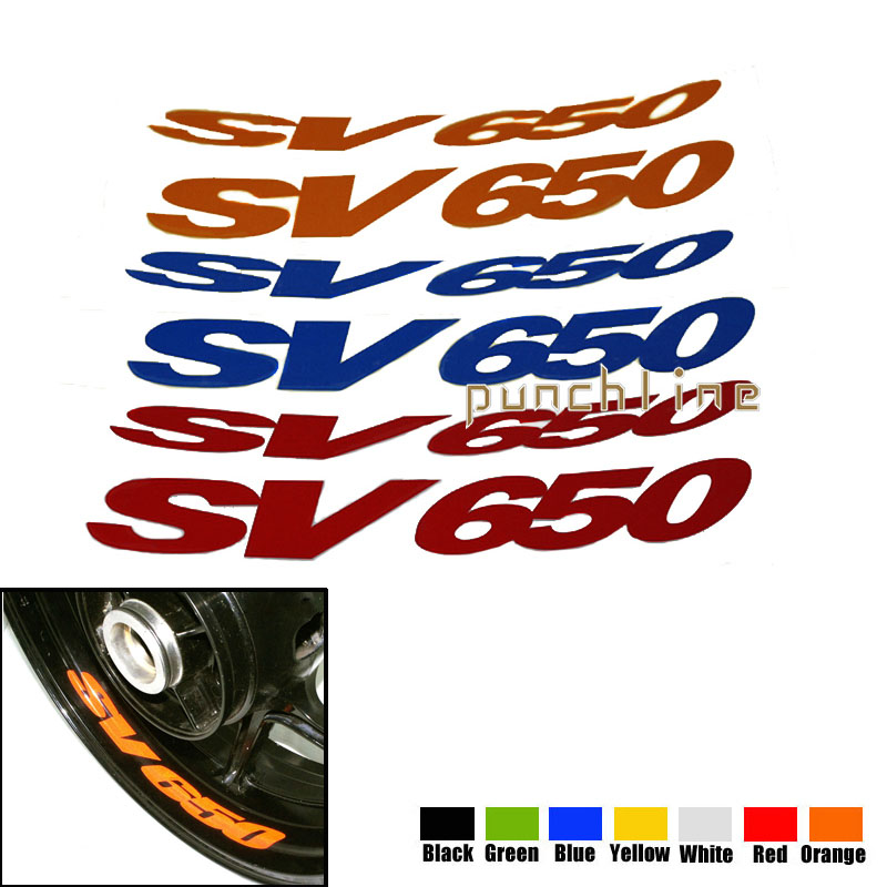 Fit For SUZUKI SV 650 SV650 Motorcycle Front & Rear CUSTOM INNER RIM DECALS WHEEL Reflective STICKERS STRIPES