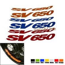 For SUZUKI SV 650 SV650 Motorcycle Front & Rear CUSTOM INNER RIM DECALS WHEEL Reflective STICKERS STRIPES