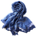 100% Silk Scarf Women Scarf Cat Scarf 2017 Fashion Lace Silk Bandana Beautiful Silk Scarf  Office Lady Party/Shopping W6037