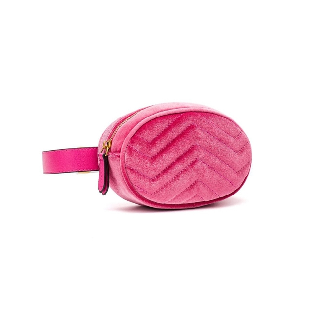 Waist Fanny Pack Women Leather Velvet Belt Zipper Waist Bag Travel Wallet Beach