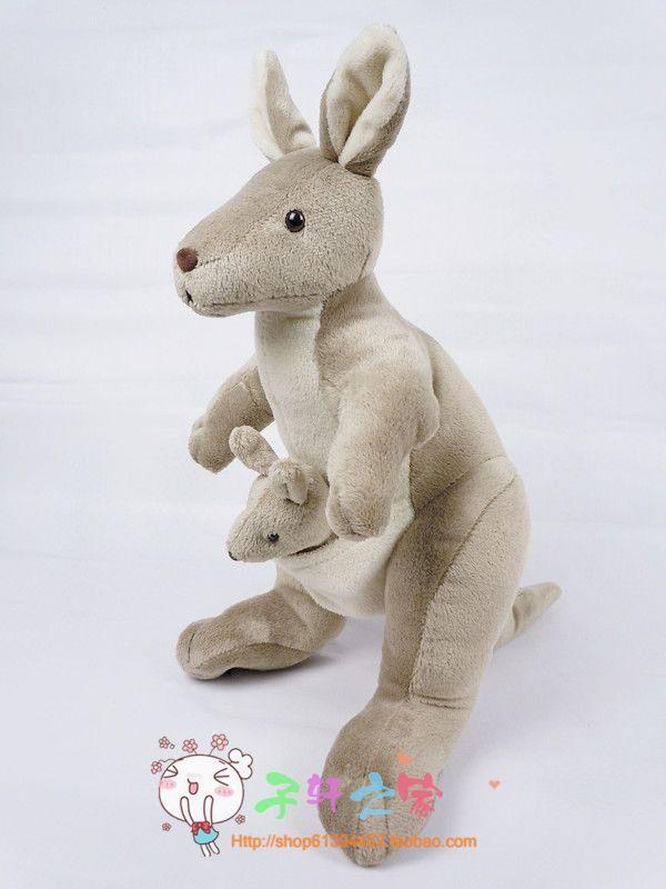 ФОТО 60cm mother&child kangaroo plush toy lovely kangaroo doll gift w4732