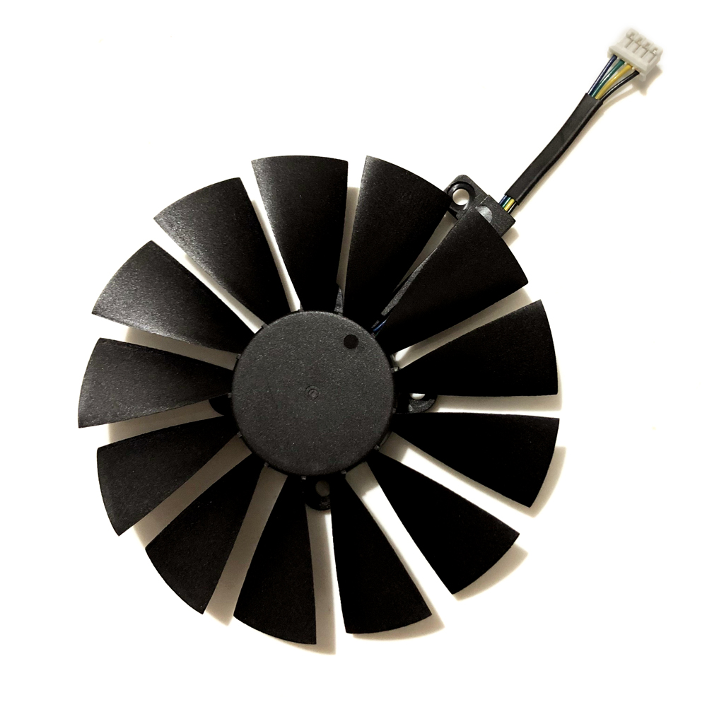 95MM 100MM 4Pin New PLD10010S12H Cooler Fan For ASUS ROG STRIX Dual RX 580 570 470 GTX 1050Ti GTX1080Ti Video Card Replacement in Fans Cooling from Computer Office