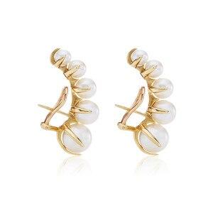Image 1 - Europäische und Amerikanische mode nische marken allmählich ändern Perle ohr nägel weibliche übertreibung temperament vintage ohrringe