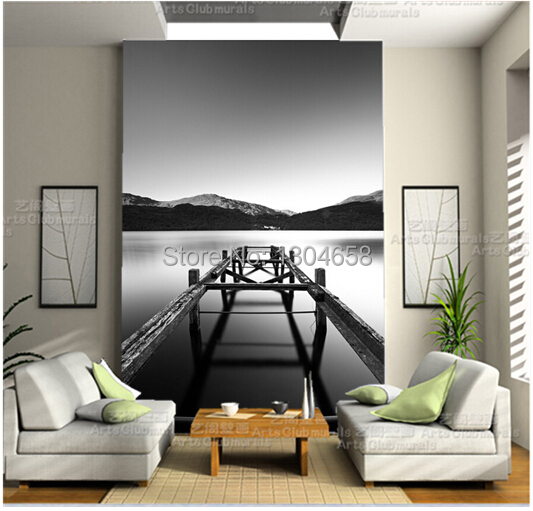 Free shipping custom 3D wallpaper mural Long Exposure on Loch Lomond TV sofa bedroom wallpaper wallpaper backdrop free shipping custom 3d mural classic retro modern sofa bedroom tv backdrop wallpaper zebra wallpaper