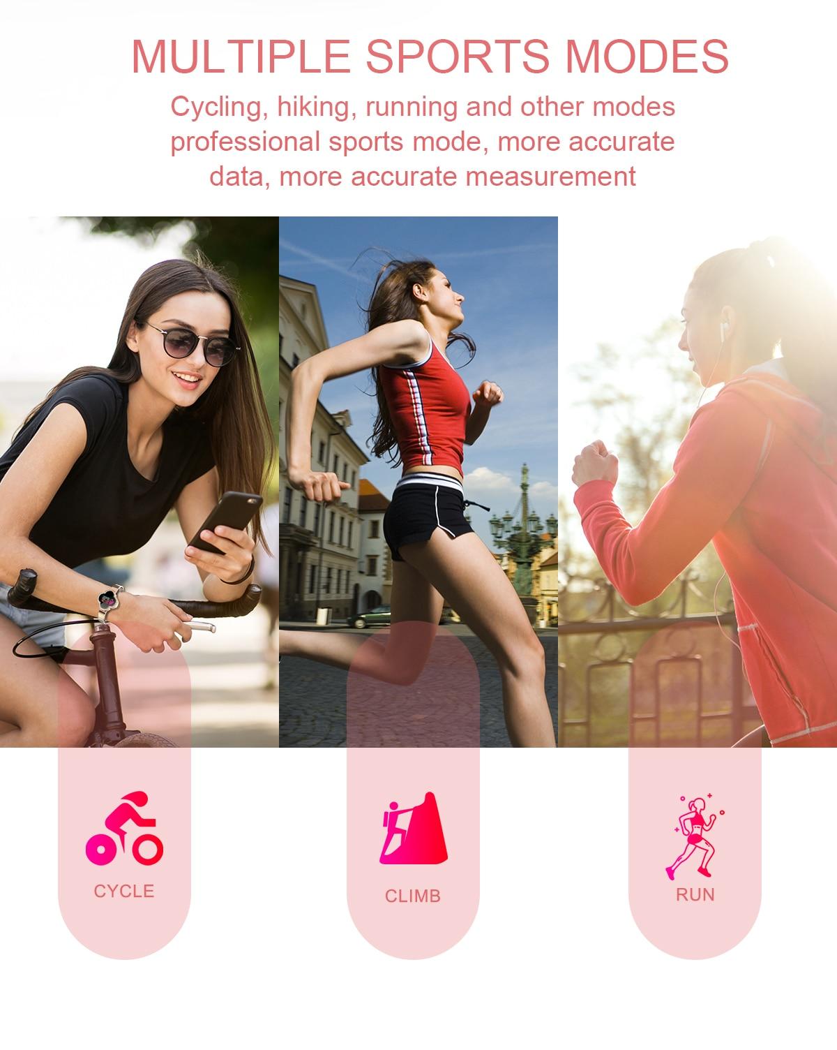 Mulheres pulseira feminina Relógios Inteligentes de Pressão