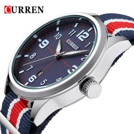 2016 hot! Curren homens moda Casual relógio marca de luxo relógios de pulso dos homens Auto data relógios desportivos dos homens relógio Relogio Masculino