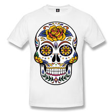 SKULL TATTOO Mens T-Shirt/Skull/Rock/Day of the Dead/Biker/Goth/Sugar Skull/Top New T Shirts Funny Tops Tee  free shipping