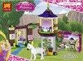 148 Unids Muchacha de La Princesa Rapunzel Amigos del Mejor Día Figura La Construcción de Bloque de Construcción de Ladrillos de Princesa Girl Compatible con Juguetes