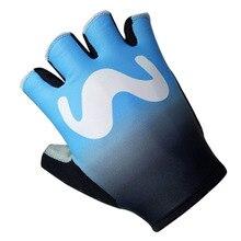 2018 новейшие голубой M Team Pro велосипедные перчатки MTB горный велосипед перчатки Лето Гель Половина Finger противоударные спортивные перчатки