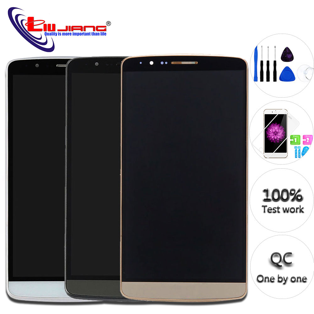 Original Screen for LG G3 D850 D851 D855 LCD Display Touch Screen Digitizer Assembly with Frame Replacement parts in Mobile Phone LCD Screens from Cellphones Telecommunications