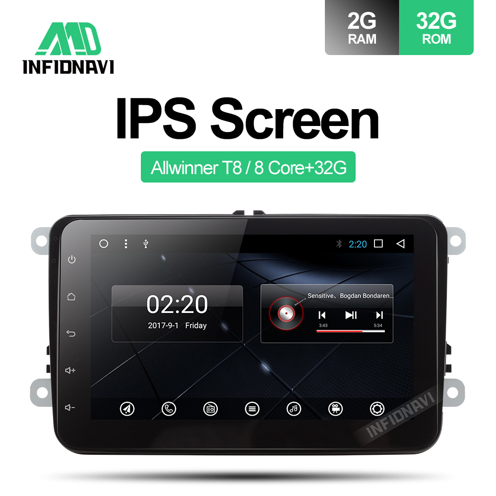9ips Screen Android 81 Car Dvd For Vw Golf Tiguan Polo Skoda Fabia Central Locking Wiring Diagram 8ips Octavia