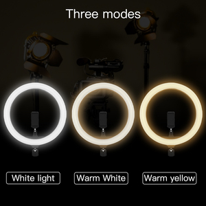Image 4 - Capsaver 12 אינץ LED טבעתי מנורת טבעת אור Dimmable 2700 K/5500 K CRI90 12W USB צילום תאורה עבור וידאו YouTube תמונה