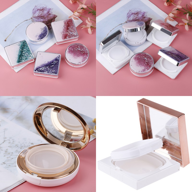 7 Style DIY Empty BB Cream Container Air Cushion Puff Box Liquid Foundation BB Cream Holder Beauty Make Up Case