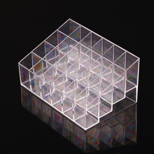1pc New 24 Trapezoid Makeup Display Lipstick Stand Case Cosmetic Organizer Holder