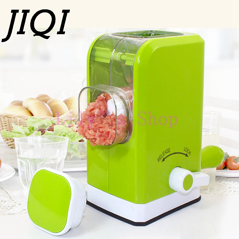 Household manual meat grinder handle multifunction stainless steel Blade mill MINI Meat Mincer vegetbale pepper cutting machine mini multifunctional meat grinder household stainless steel blade home cooking machine mincer sausage machine for meat vegetable