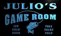 X0246-tm Хулио's Рыбалка отверстия игровая комната пользовательских персонализированные имя Neon Sign; оптовая продажа; Прямая поставка; на/выключе...