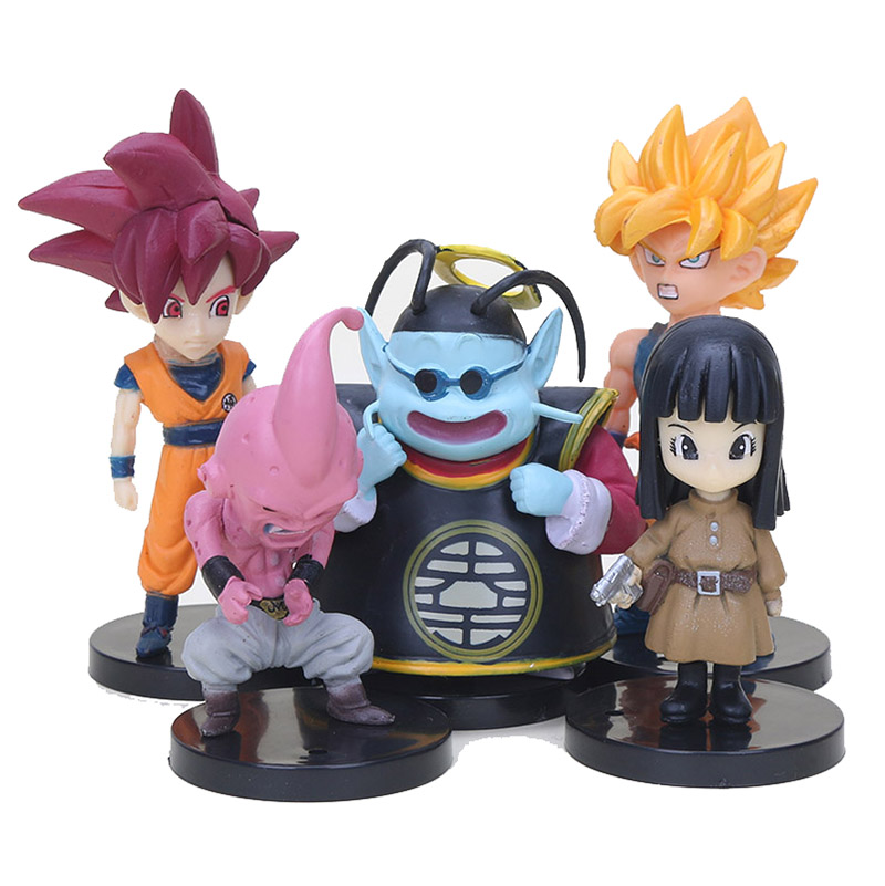 DRAGON BALL SUPER 13 STATUETTE PERSONAGGI Action Figure Sayan Goku Blu Rosa z X