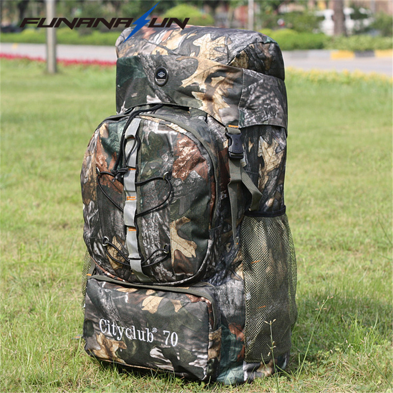 Waterproof 60L Men Backpack Tactical Heavy Duty Camouflage Rucksack Military Travel Large Bags Hiking Survial Knapsack 65l outdoor sports multifunctional heavy duty backpack military hiking